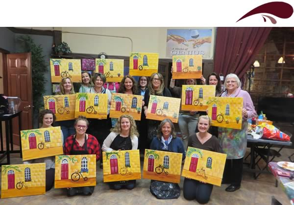 bachelorette party or girls night out painting party
