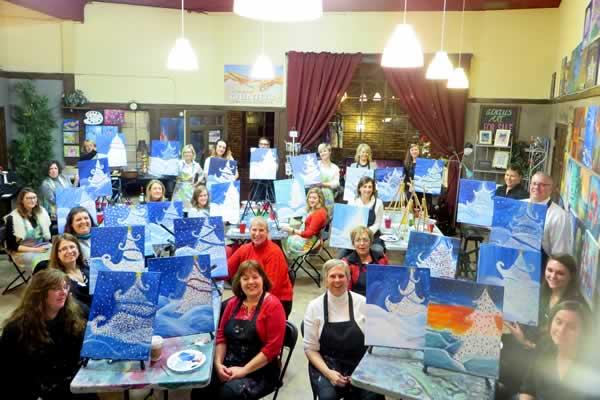 Wine and Painting Party - Stroke of Genius in Waukesha WI