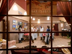 wine and painting classes at Stroke of Genius in Waukesha WI