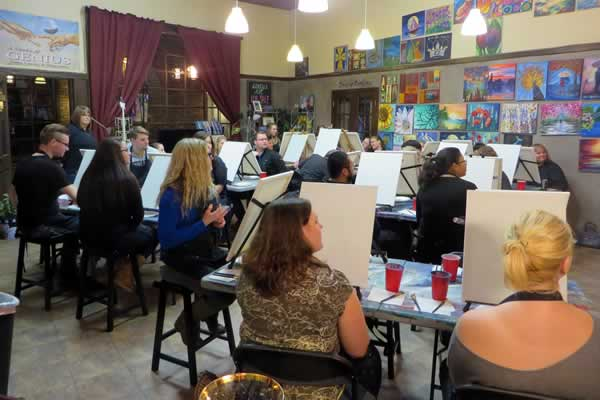 Ladies girls night out private wine paint parties for Private paint party