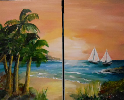 Cabo Couples Painting