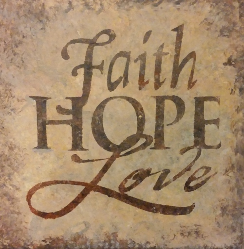 FAITH HOPE LOVE painting