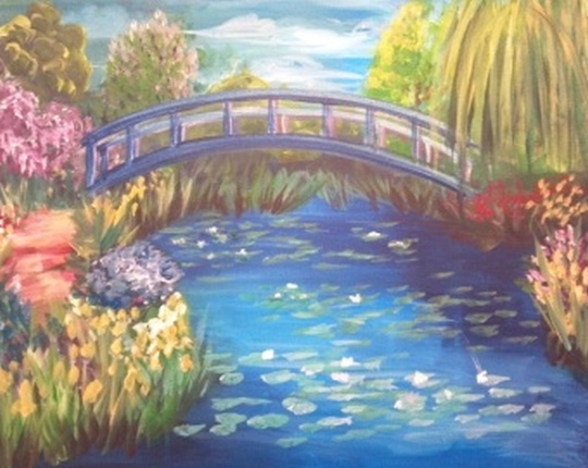 Monet's Japanese Bridge painting