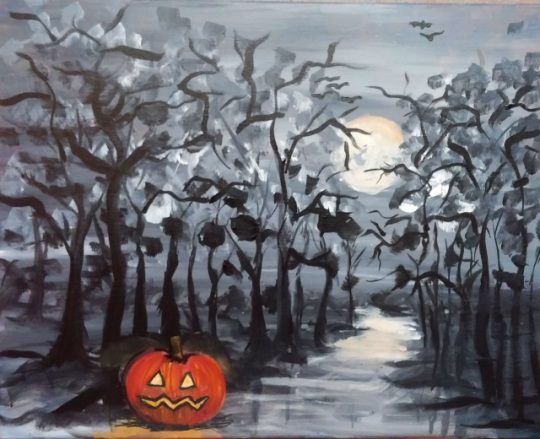 The Great Pumpkin painting