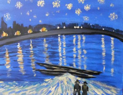 Van Gogh's Starry Night On the Rhine painting