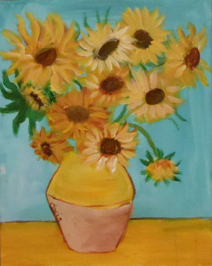 Van Gogh's Sunflowers painting